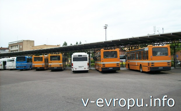 Автобусная станция в Равенне (Италия)