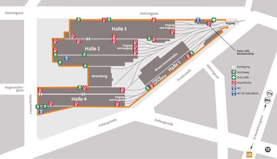 Вена схема Музея Трамваев