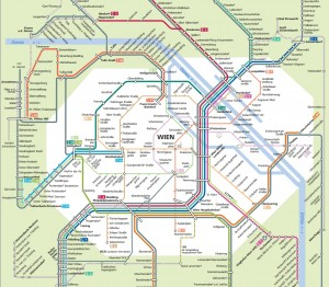 Схема маршрутов электричек в Вене