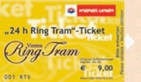 Билет на экскурсионный трамвай в Вене