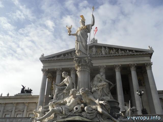 Здание Парламента в Вене фото