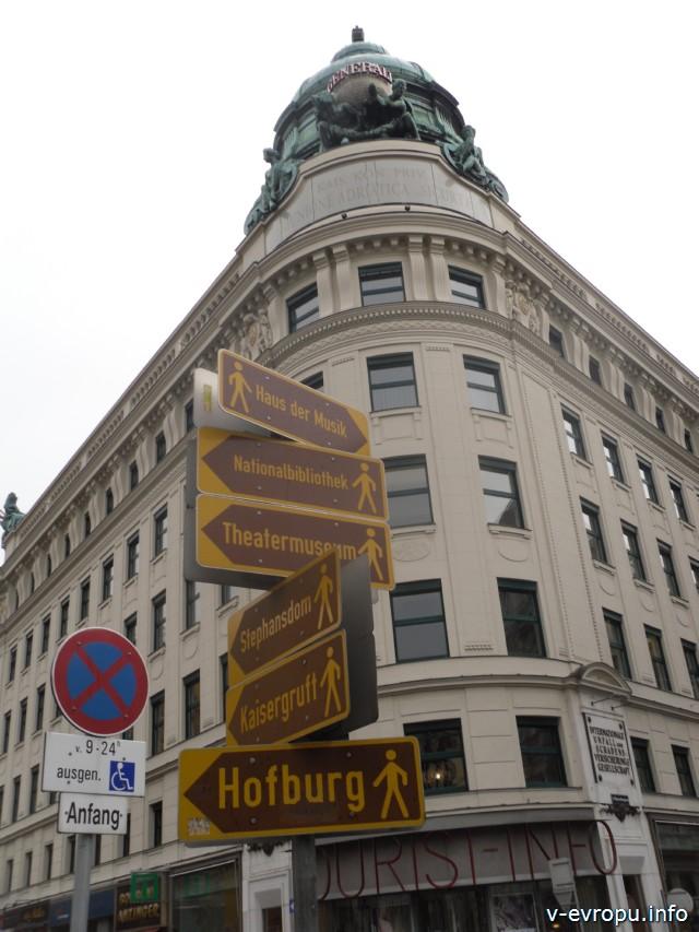 Вена. Указатели пешеходной экскурсии