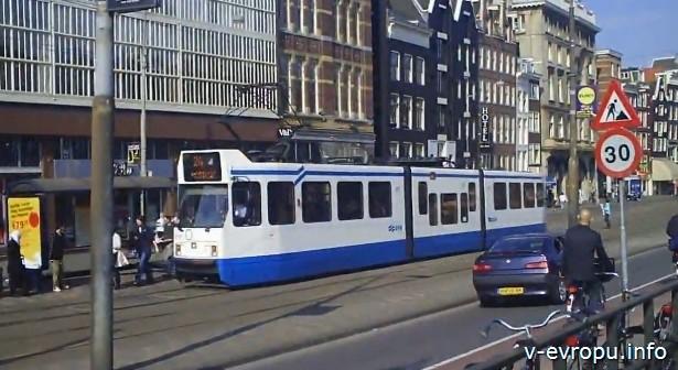 Трамваи в Амстердаме