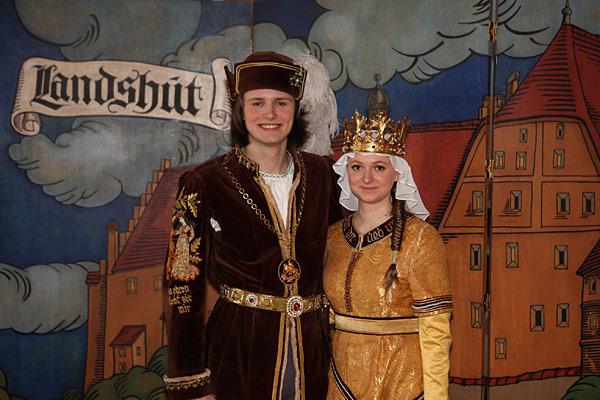 Герцог Яков Богатый и принцесса Ядвига - жених и невеста на Ландсхутской свадьбе 2013 по выбору жителей Ландсхута