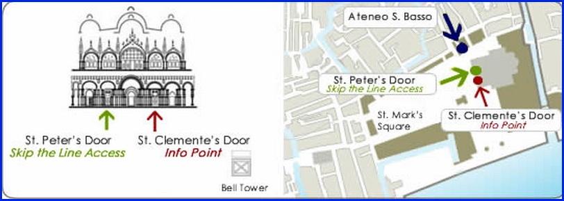 Венеция_схема входов в Собор