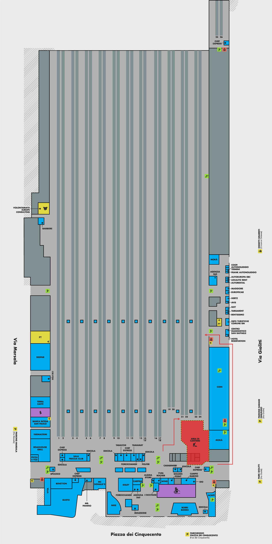 Рим Термини схема первого этажа вокзала