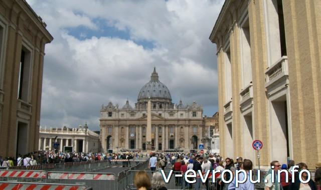 Самостоятельное путешествие в Рим и на Сицилию. Рим. Площадь Сан Петро