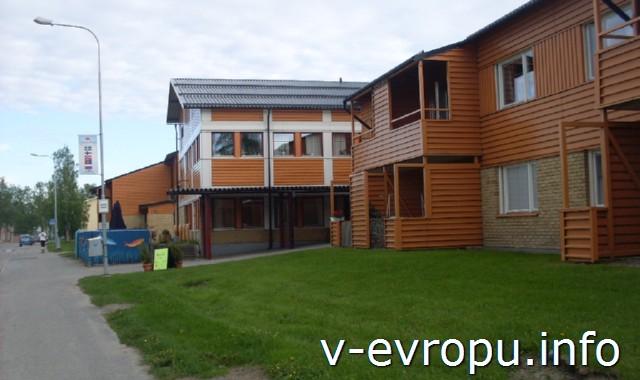 Из Рованиеми в Швецию на велосипеде.Жилые дома в Торнио-Хаппаранда