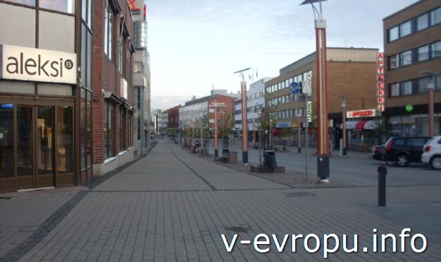 Рованиеми на велосипеде. Улицы города