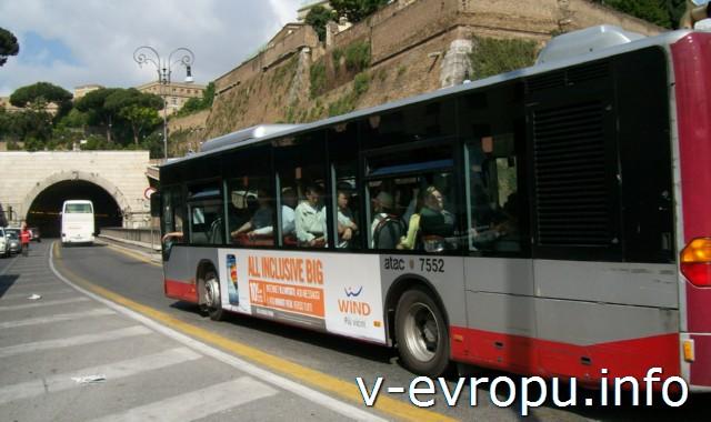 Автобусы Рима. Фото. Маршрутный автобус