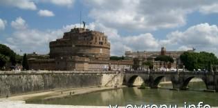 Фото моста Святого Ангела в Риме