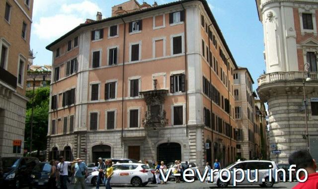 Транспорт Рима. Фото. Парковка в центре