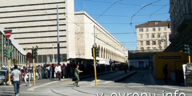 Фото жд вокзала Термини в Риме