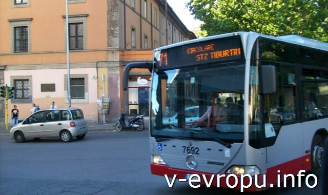 Городской автобус в Риме