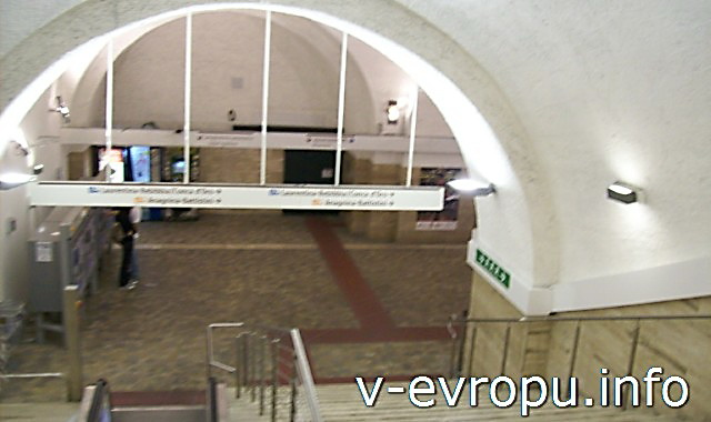 Рим. Жд вокзал Термини. Фото. Подземный переход к метро из здания вокзала