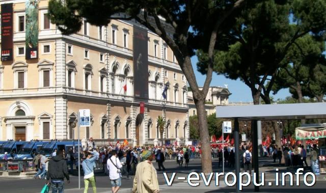 Рим. Жд вокзал Термини. Фото. Площадь Чинквиченто