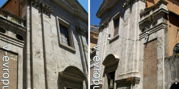 Церковь Джезу э Мария ин виа Лата в Риме