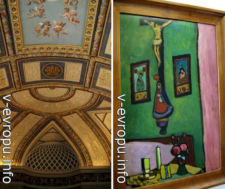 """Зал современного искусства в Музеях Ватикана. Зал Матисс. Справа работа Габриэлы Мюнтер """"Натюрморт с  """"красным углом"""", 1909-1910"""