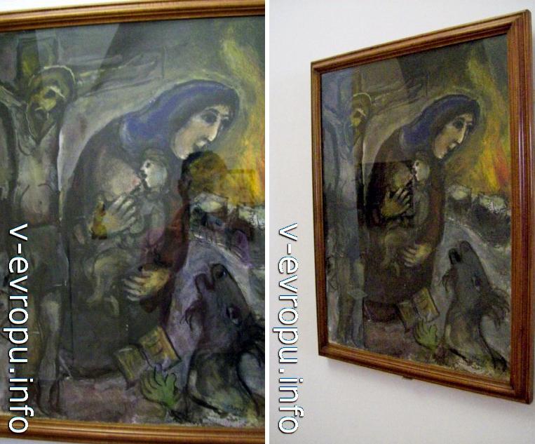 """Марк Шагал """"Распятие"""", 1943г. Зал Матисса в Музее Ватикана"""