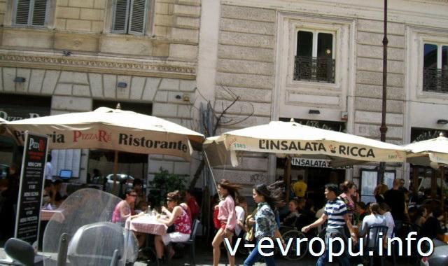 Еда в Риме. Ресторан на пьяцца Навона