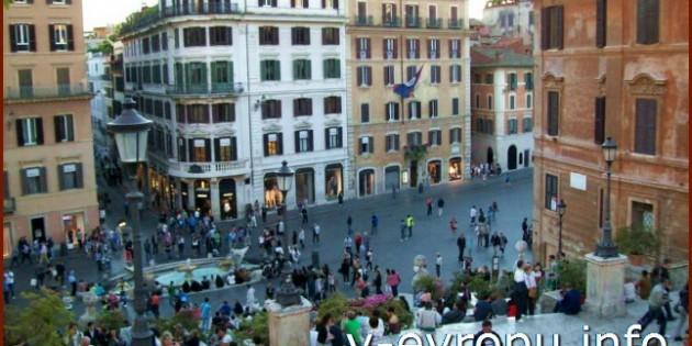 Фото с торговых улиц Рима Кондотти и Корсо
