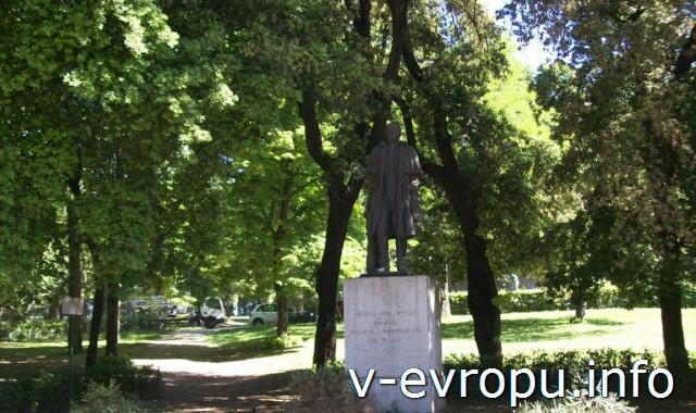 Памятник генералу Хосе Артигасу в парке виллы Боргезе