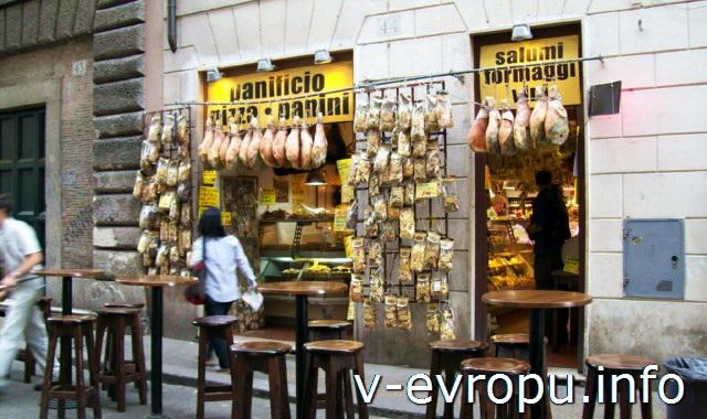 Цены на еду в Риме