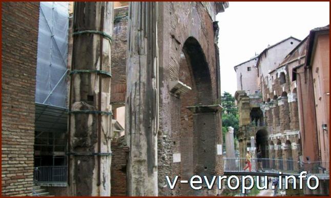 Рим для туристов: самые популярные районы города. Фото. Портик Октавии
