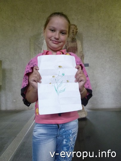 Алиса из Лесосибирска нарисовала для меня букет ромашек