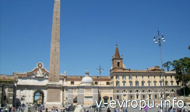 Египетский обелиск на площади дель Пополо в Риме
