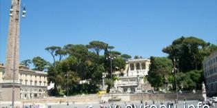 Фото площади Пополо в Риме