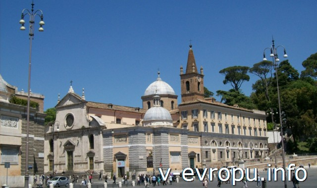 Церковь Санта Мария дель Пополо в Риме