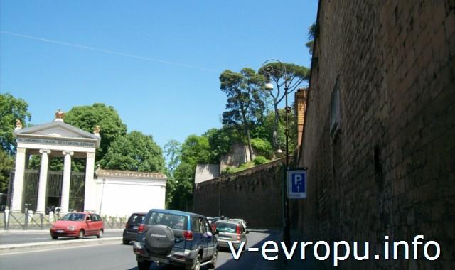 Вид при выходе из Порто дель Пополо