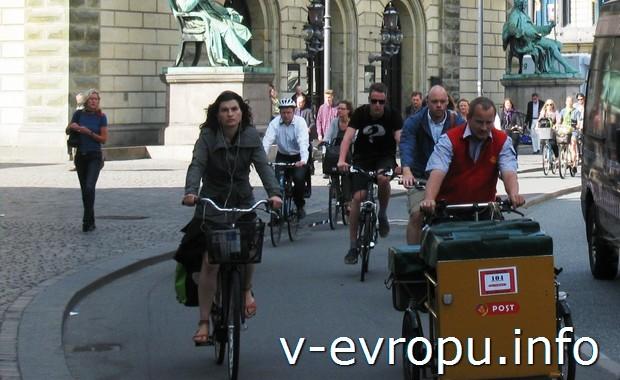 Национальный транспорт Дании - велосипед