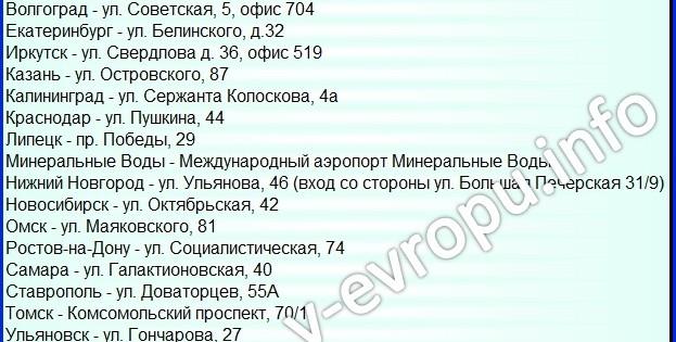 Визовые центры и консульства посольства Италии в России