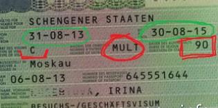 Что значит «мультивиза 90 дней»?