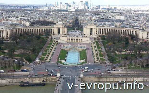 Фото площади Трокадеро в Париже