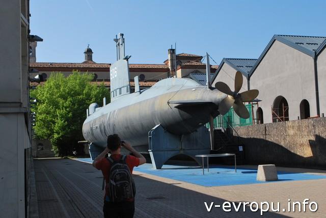 Схема подводной лодки тоже найдена в чертежах Леонардо