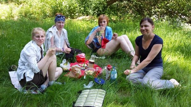 И устроили пикник на природе