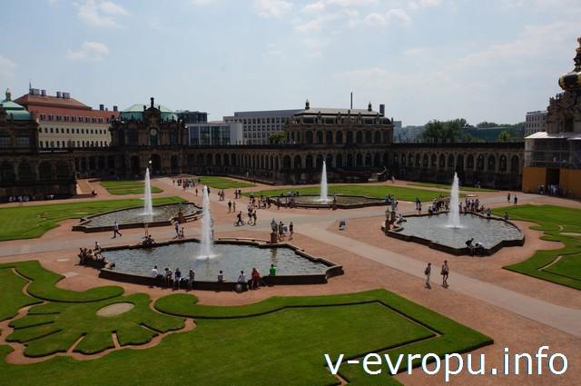 Дрезден. Знаменитые фонтаны Цвингера