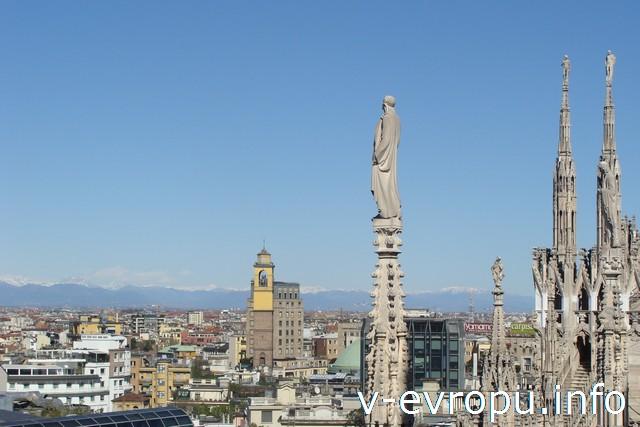 Милан. Вид с крыши Дуомо