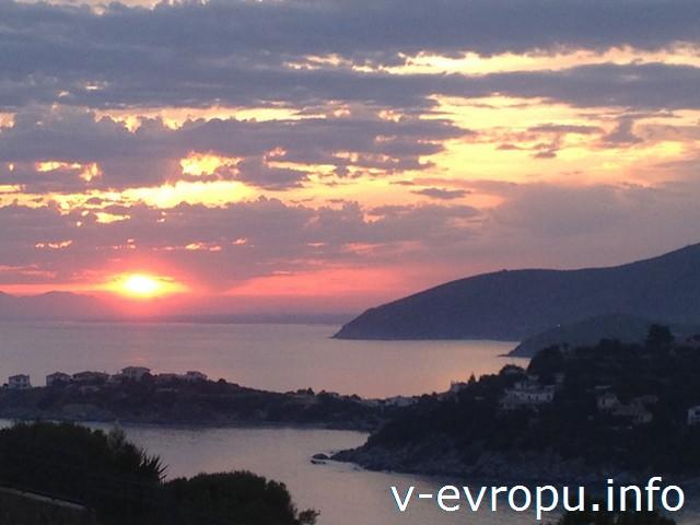 Сардиния. Закат с веранды