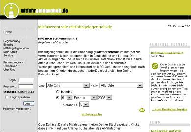 Сайт попуток в Германии