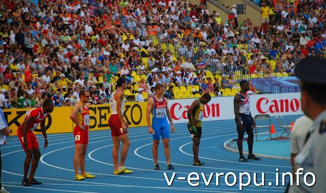 Мужская эстафета 4х100 м на чемпионате по легкой атлетике в МСК в 2013 году