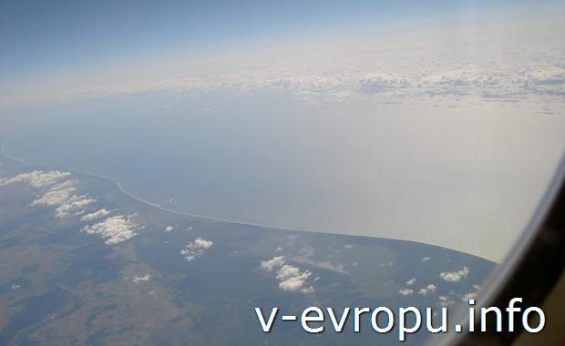 Европа из окна самолета