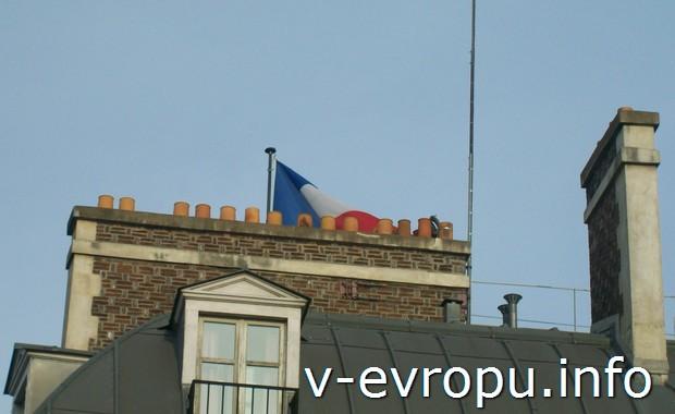 Парижские крыши с каминными дымоходами
