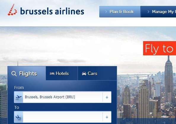 Сайт Брюссельских Авиалиний