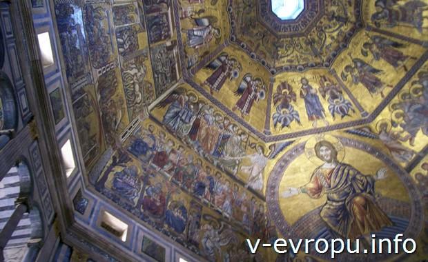 Флоренция.Мозаичный потолок бапсистерия собора Санта Мария дель Фьоре