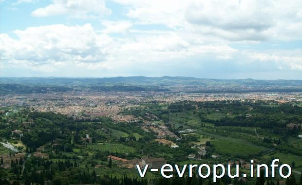 Тоскана. Флоренция. Вид на город с Фиезоле