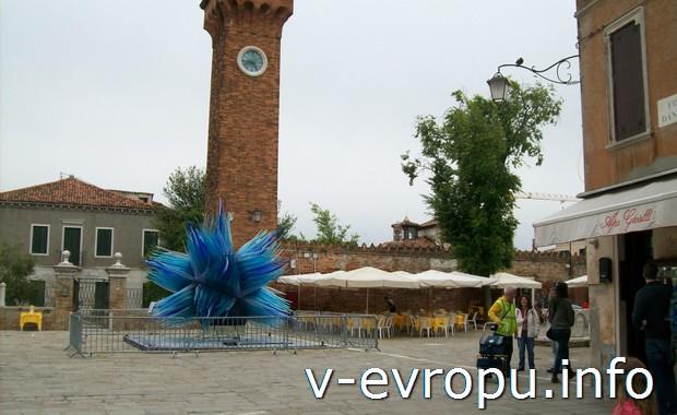Площадь на острове Мурано в Венеции